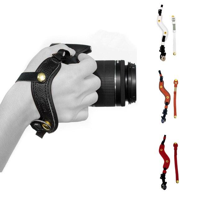كاميرا قبضة اليد المعصم جلدية حزام لأوليمبوس OMD EM1 EM5 EM10 OM D E M1 E M5 E M10 مارك الثالث II 3 2 سوني A9 A7S A7R A7 III II