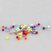 8mm diameter colorful acrylic candy beads bracelet necklace crystal loose DIY handmade accessories