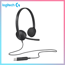 Logitech H340 Headset USB Port Computer headset with Microphone for Windows Mac OS Chrome OS for Game Office Home Headphones 981 000475 гарнитура logitech headset h340 usb