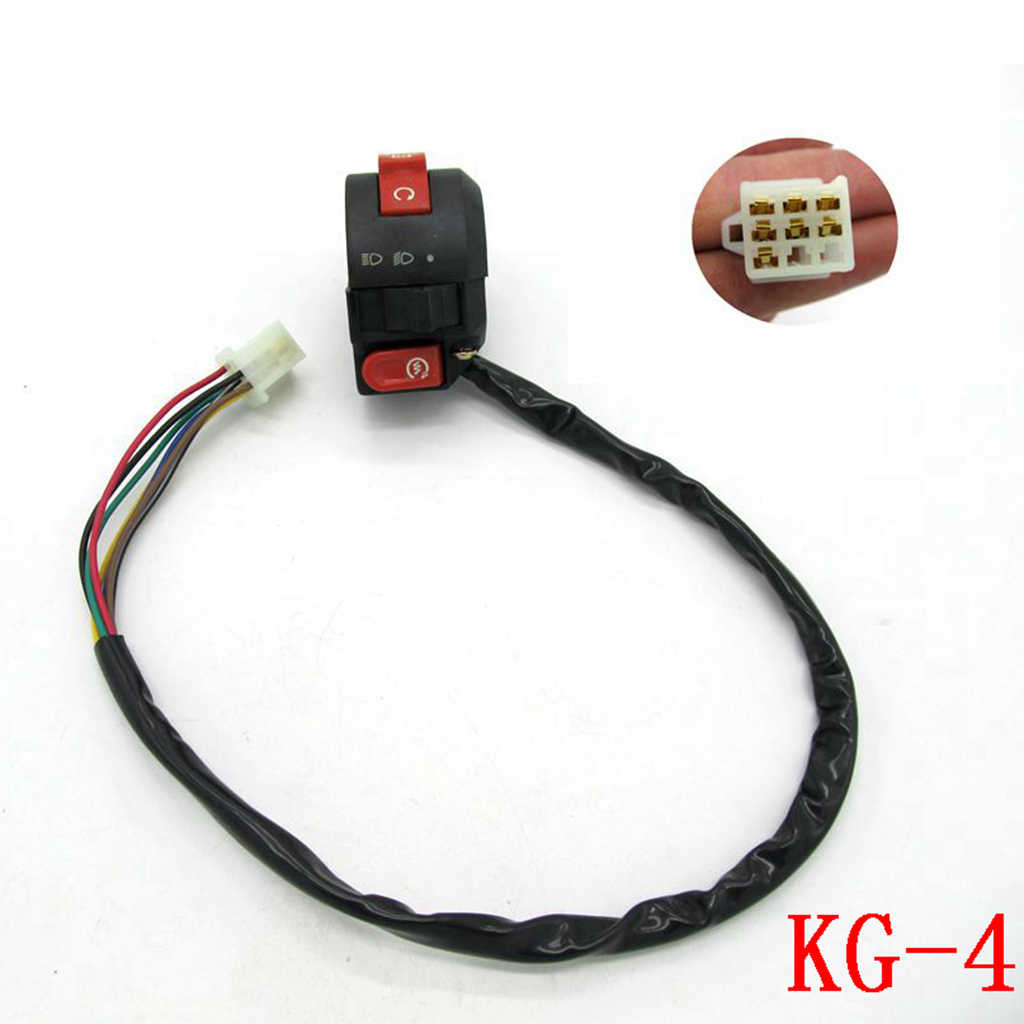 7 draad Doden Start Light Switch Button Behuizing Voor 110cc 125cc ATV Quad