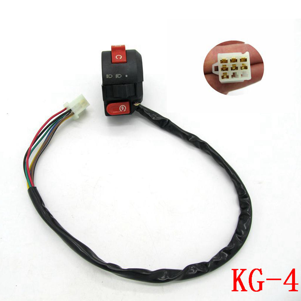 7 Wire Kill Start Light Switch Button Housing For 110cc 125cc ATV Quad