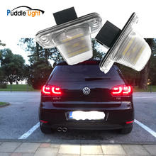 цена на 2x Error Free SMD White Led Licene Plate Light Led Number Plate Lamp Auto Turn Signal For Vw Transporter T4 Passat Jetta Touran