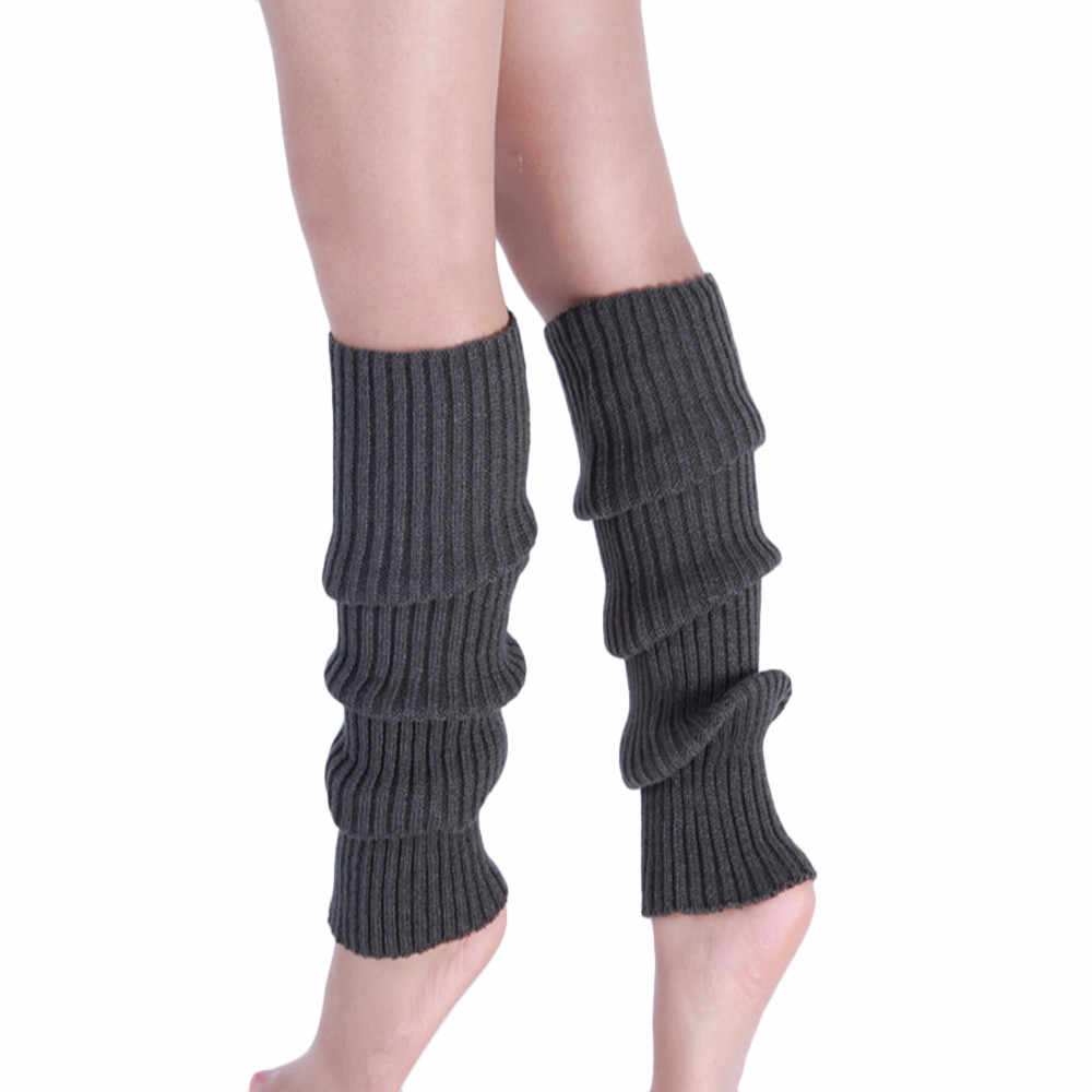 Bot paçaları isıtıcı örgü bacak çorap çizgili uzun çizme uyluk yüksek çorap örme diz çorap pamuklu bacak ısıtıcısı parti
