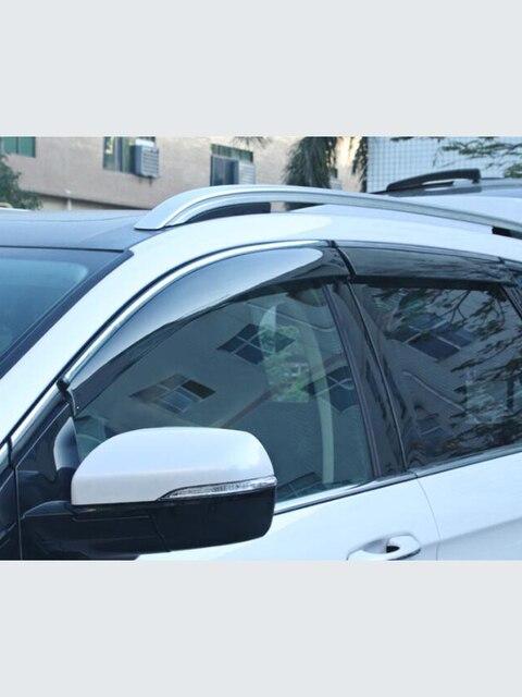 Para ford Mondeo13 18Window viseira escudo de chuva do carro toldo guarnição capa janela lateral defletor porta chuva sun shield lado janelas cobrir