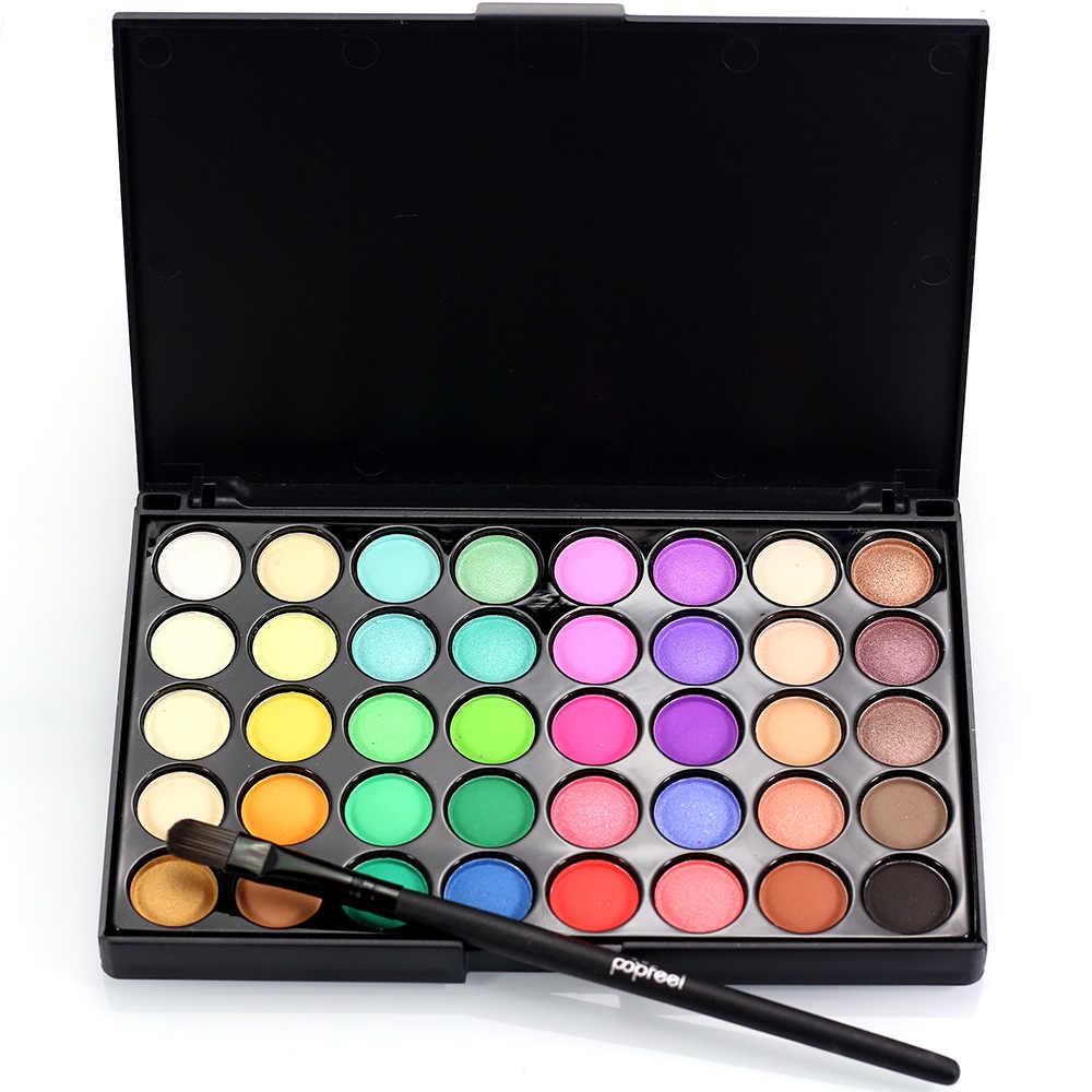 Paleta de sombras de ojos de 40 colores maquillaje tierra sombra de ojos purpurina cosmética impermeable herramientas de maquillaje de larga duración