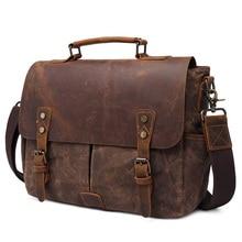 Vintage 15.6 Inch Laptop Handbag Men Shoulder Bag Canvas Add