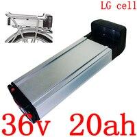 36V 500W1000W Rear Rack ebike battery 36V 20AH Lithium Battery 36V 10AH 13AH 17AH 20AH Electric Bicycle Battery use LG cell