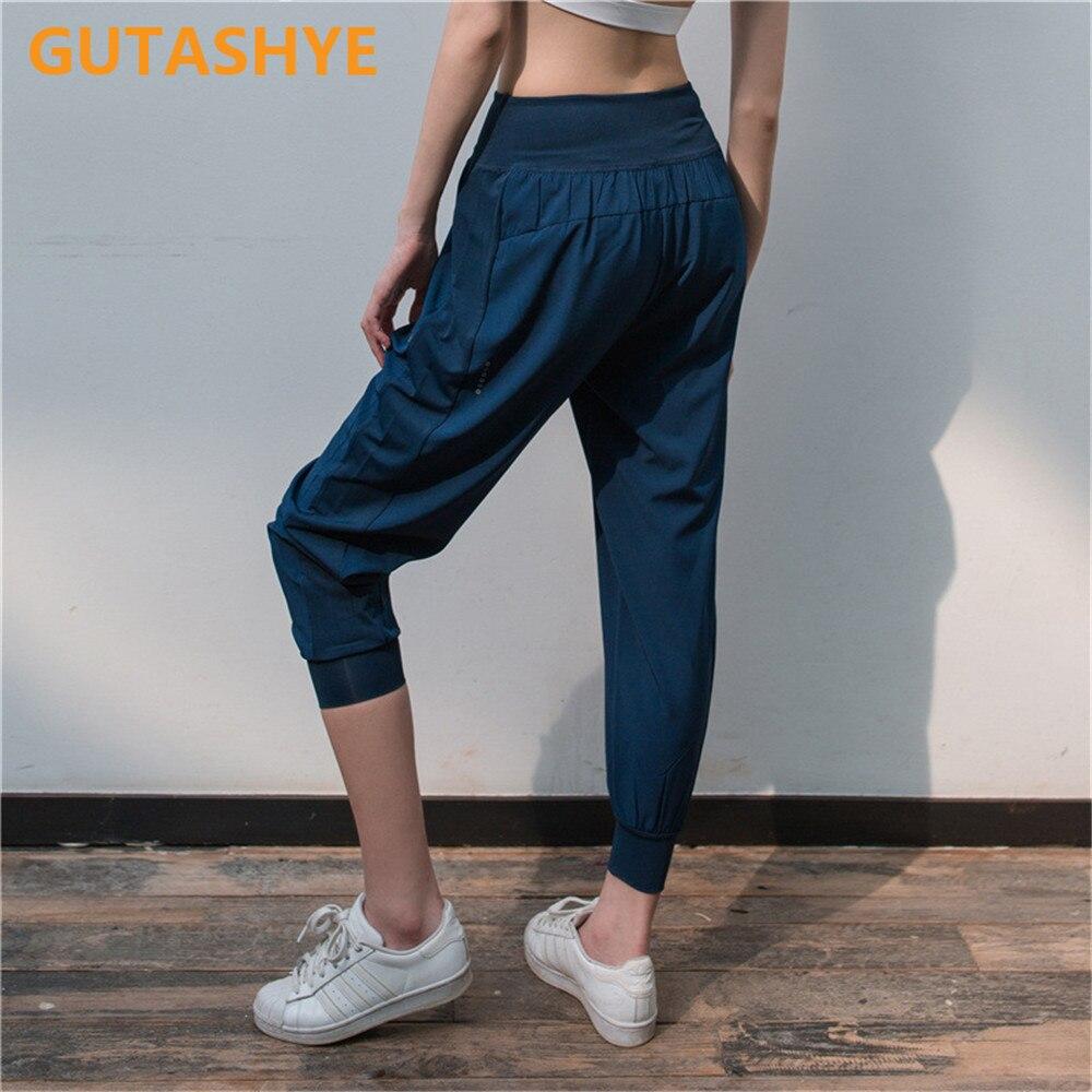 GUTASHYE Loose haren dance pants for women training running sweat absorption quick dry exercise pants fitness yoga pants