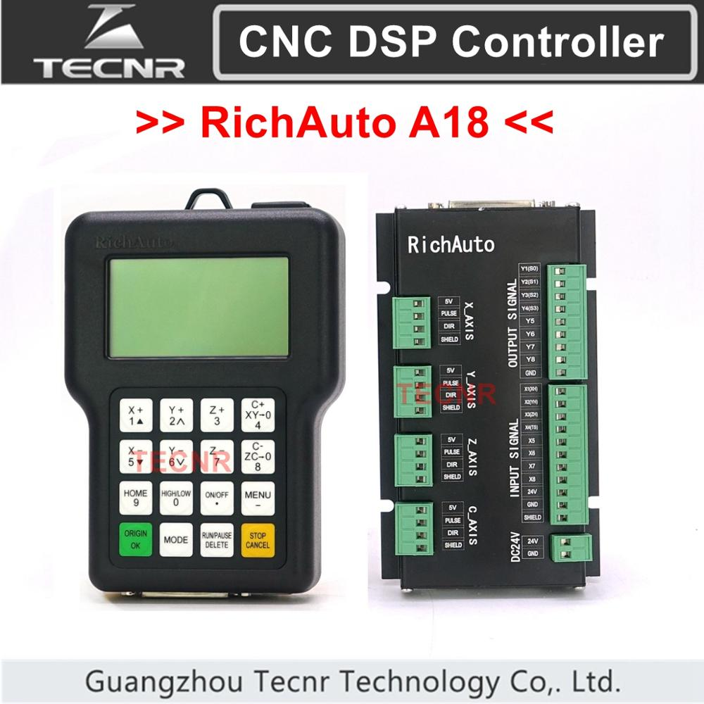 TECNR RichAuto DSP A18 4 Axis CNC Controller A18S A18E USB Linkage Motion Control System For Cnc Router Cnc Engraver