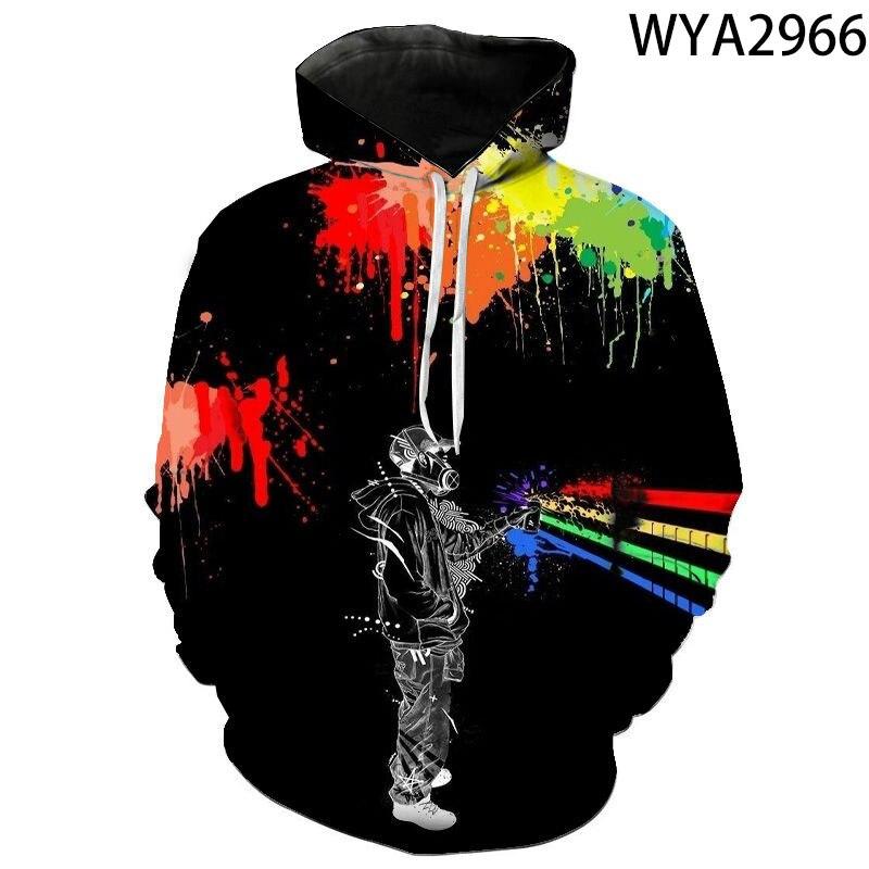 New Fashion Hoodies Graffiti Men Women Children 3D Printed Casual Sweatshirts Pullover Boy Girl Kids Streetwear Pullover Tops