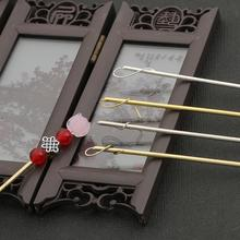 Jewelry Hair-Stick Settings Blank-Base Flower DIY Gold Silver-Color Rhodium for Headwear