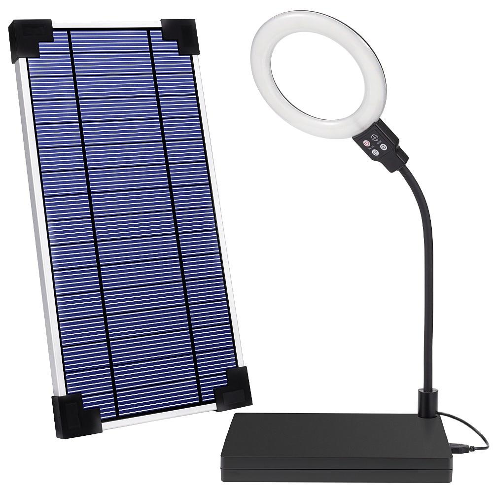 Solar Lights System Solar Power Bank USB Camping Light Lantern Dual Output Charge 26000mAh