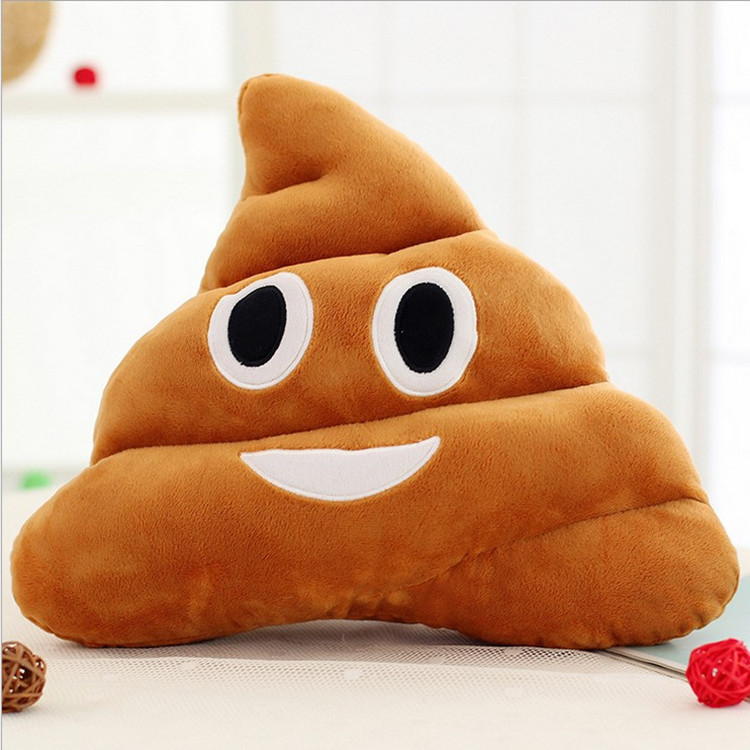 30CM New Pattern Lovely Browm Smiely Pillow Plush Cushions Home Decor Gift Stuffed Poop Doll Toys