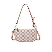 2020 Women Shoulder Bag Pu Leather High Capacity Crossbody Bag European and American Fashion Lattice Design Luxury Women's Bag
