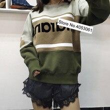 Новейший хлопковый флисовый свитер контрастного цвета с круглым вырезом- весенний женский/женский флисовый пуловер