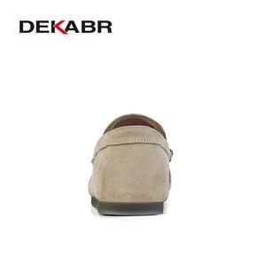 Image 3 - DEKABR 브랜드 뉴 남성 가죽 캐주얼 신발 소프트 로퍼 남성 모카신 신발 슬립 온 남성 경량 드라이빙 신발 플랫