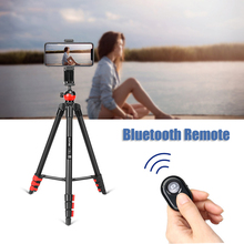 ZOMEI T60 Lightweight Tripod  Professional Bluetooth Remote Control Tripode Stand with Phone Holder for Camera Gopro Smartphone