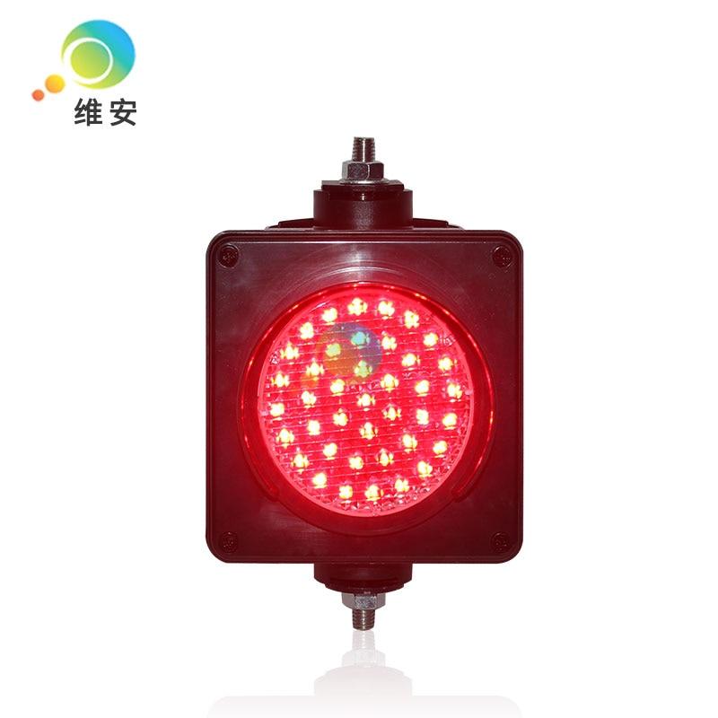 Customized Pattern 100mm Single LED Light Mini Red Traffic Signal Light For Sale