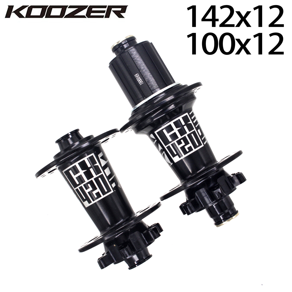 KOOZER CX420 6 Pawls 72 Clicks 28 Holes CX cyclocross/gravel Road Bike Disc Brake Bicycle Hub Thru Axle 12*100 12*142MM