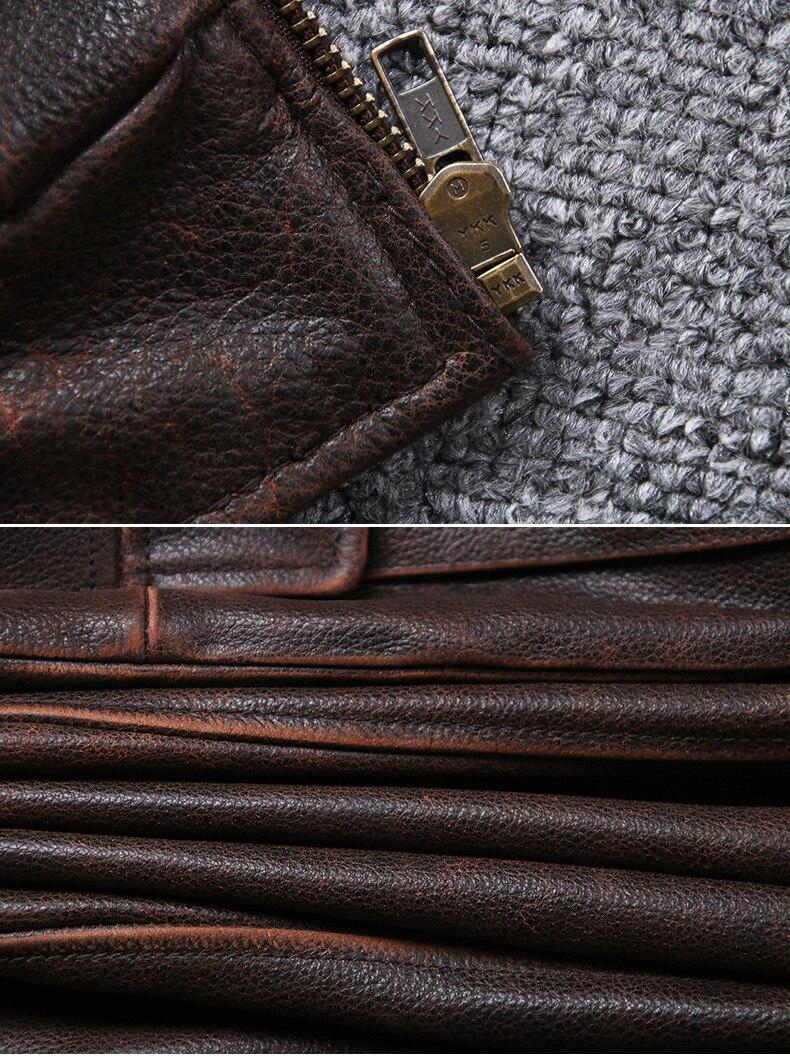 Hb44f9fe2d2a1452ba1e5d6a206354062E 2019 Vintage Men's G1 Air Force Pilot Jackets Genuine Leather Cowhide Jacket Plus Size 5XL Fur Collar Winter Coat for Male