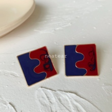 Neatear 2019 Square Designers Simple Red-Blue Trendy Womens Earrings