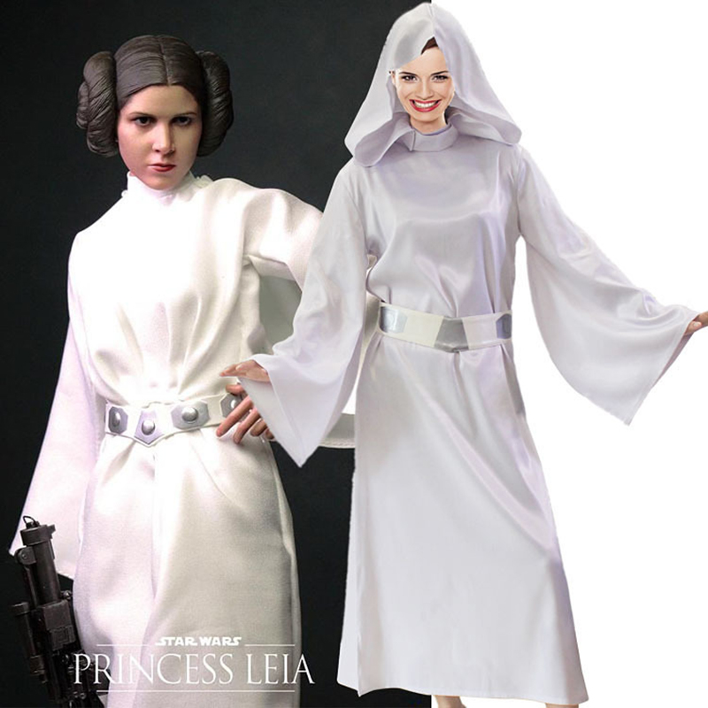 Adult Fantasy Star Wars Princess Leia Cosplay Costume Girls