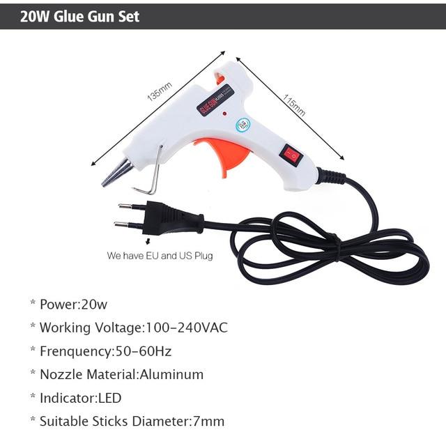 Free Shipping 6 IN 1 Glue Gun Set Professional DIY 110-240V 20W with Sticks Gift & Case 3