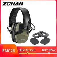 Zohan 電子イヤーマフ NRR22DB シングルマイク狩猟イヤーマフ戦術撮影聴覚保護と交換 -