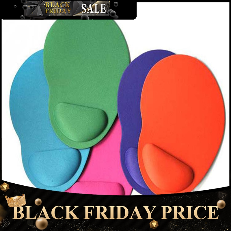BEESCLOVER Computer Mouse Pad Solid Color Wrist Protection Anti-slip Pad