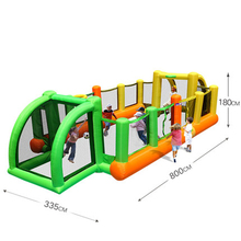 Football children's slide inflatable castle outdoor small large family square trampoline