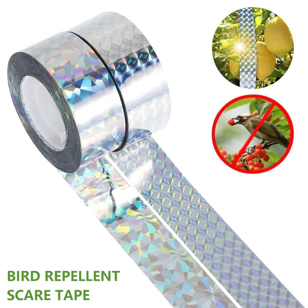 Мульти-Размер Анти-лента для отпугивания птиц мигающий отражающий птица репеллент отпугивает лента с изображением голубей и ворона не допу...