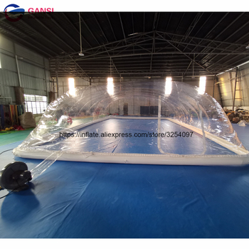 цена на PVC tarpaulin inflatable clear air tent for swimming pool cover outdoor bubble tents inflatable pool cover tent