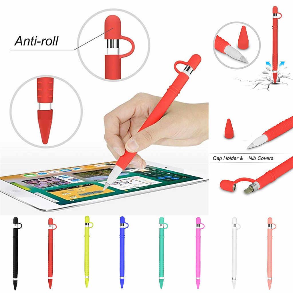 حقيبة غطاء سيليكون واقية قلم رصاص غطاء بنك الاستثمار القومي لابل قلم رصاص اللوحي القلم يغطي لباد الهواء 10.5/Mini 5/Pro 12.9/9.7
