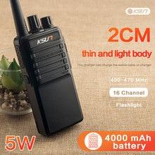 Frete grátis novo ksun X-30PLUS portátil rádio walkie talkie 5w 16ch uhf rádio em dois sentidos interfone transceptor móvel