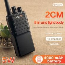 Frete grátis novo ksun X 30PLUS portátil rádio walkie talkie 5w 16ch uhf rádio em dois sentidos interfone transceptor móvel