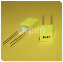 50 pièces AV R82 1 uF/63 V P5MM condensateur film cuivre jaune KEMET 105/63V MKT 1K63 1000nF 63V Arcotronics RSB 1UF63V 105K63
