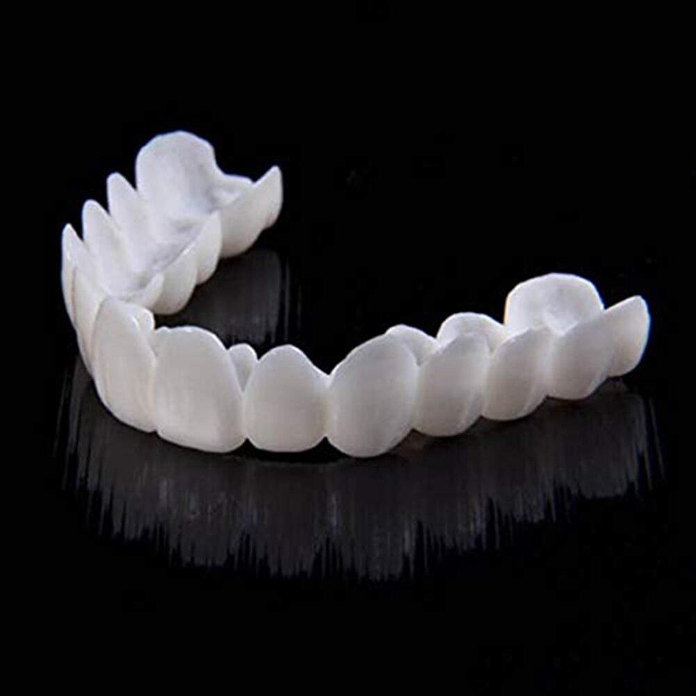 Натуральный косметический чехол для зубов с защелкой на верхней части, косметический протез, профессиональное отбеливание зубов, комфортн...