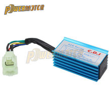 Blue 6 Pin Racing AC CDI GY6 Round Pin Ignition Box For 50cc 90cc 110cc 125cc 150cc 2 stroke Engine Moped Scooter ATV Quad Buggy(China)