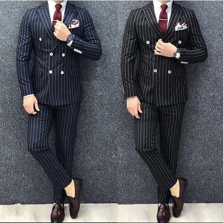 Blue-Black-Stripe-Double-Breasted-Men-Suits-Office-Business-Groom-Wedding-Men-Suits-2-Pieces-trajes