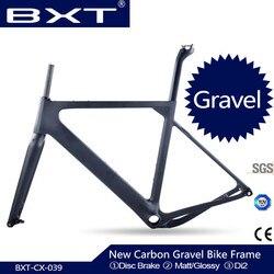 2020 carbono cascalho quadro da bicicleta através do eixo 142mm disco cyclocross quadro de carbono cascalho 700c quadro de bicicleta di2 cascalho quadro garfo