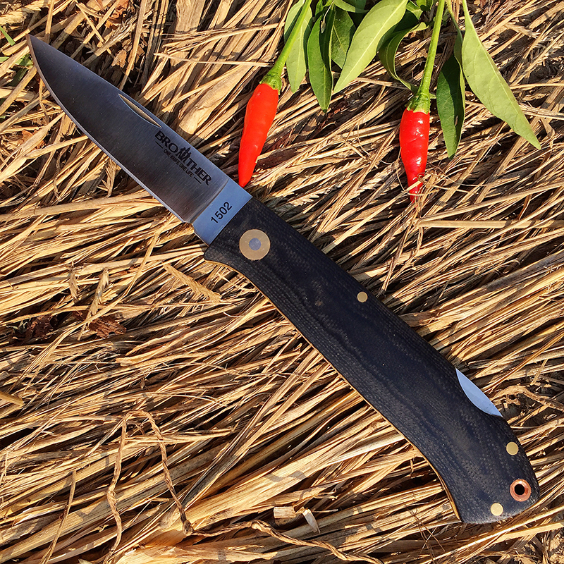 Tools : Brother knife 1502 folding knife Pocket knives Tactical survival tool folder blade G10 handle 440C steel EDC Collection