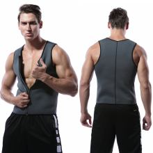 Men Shaper Sweat Vest Zipper Slim Shapewear Body Slimming Shirt Top High Quality Neoprene body shaper Mens Corset Vest For Sport