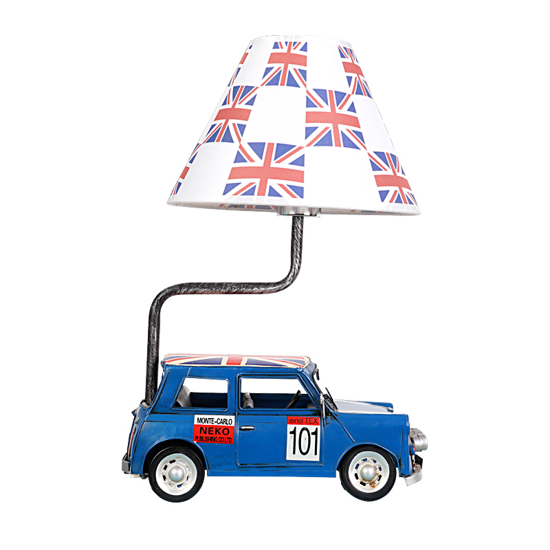 England Wind Vintage Car Desk Lamp Continuous System Children House Desk Lamp Bedroom Boy Personality Originality Cartoon
