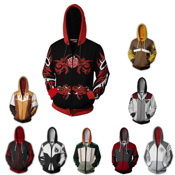 High quality anime RWBY pullover 3D printing adult kids sweatshirt hoodie Cosplay costume Ruby Rose Crescent unisex coats