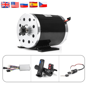 цена на Electric Brushed Motor Conversion Kit  24V- 48V 500W 1000W DC Motor Controller Throttle for DIY Electric Scooter E Bike Go-kart