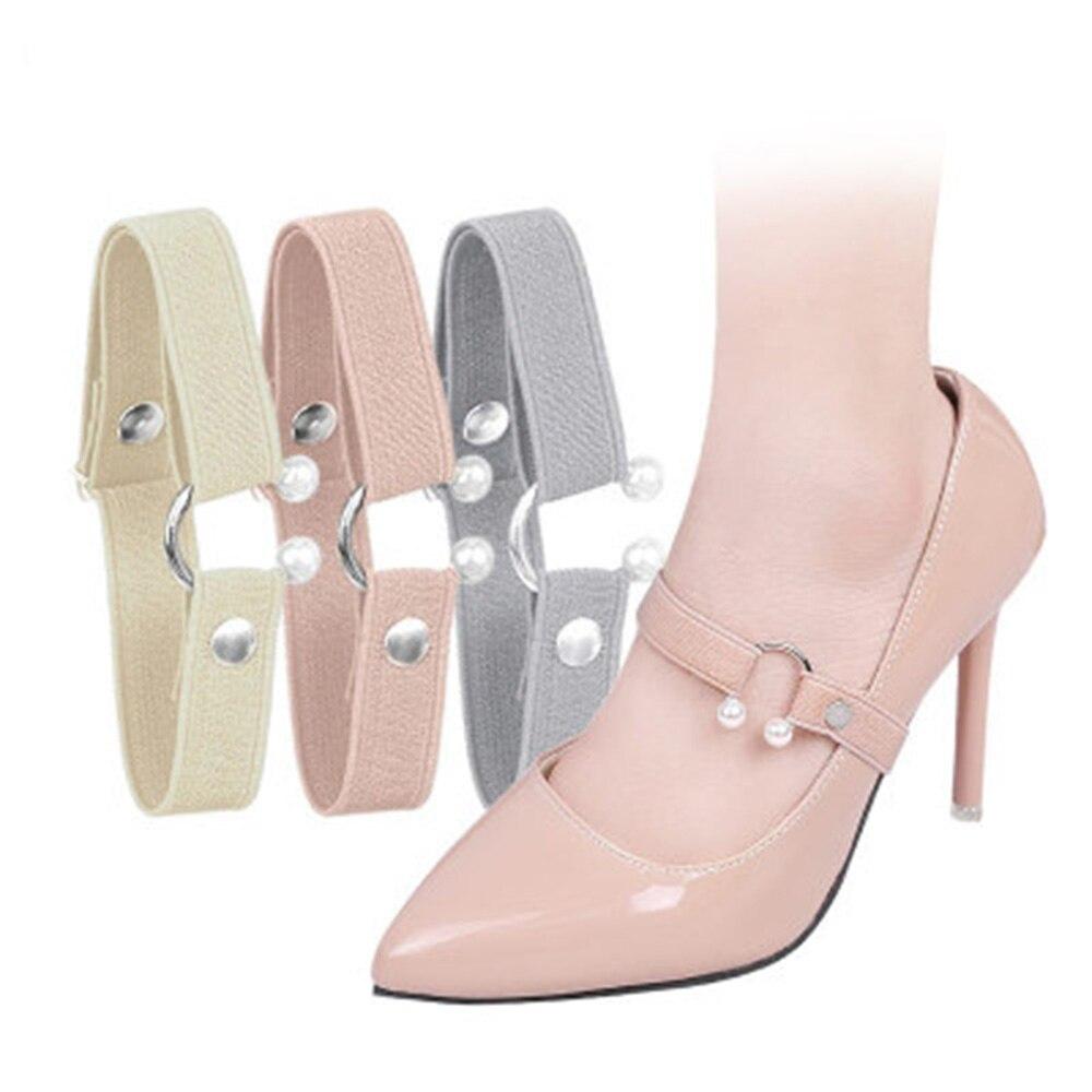 1pair Women Shoelace For High Heels Adjustable Elastic Shoe Strap Belt Ankle Holding Anti-skid Shoe Laces Shoe Accessories