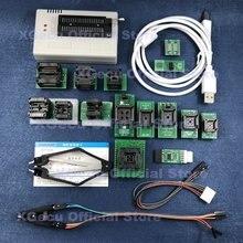 Soquete preto v10.27 xgecu tl866ii plus usb, programador de apoio 15000 + ic spi flash nand eeprom mcu substituição ����tl866cs + 16 peças