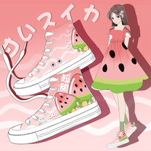 Amy and Michael Lovely Watermelon Woman Vulcanize Shoes Hand