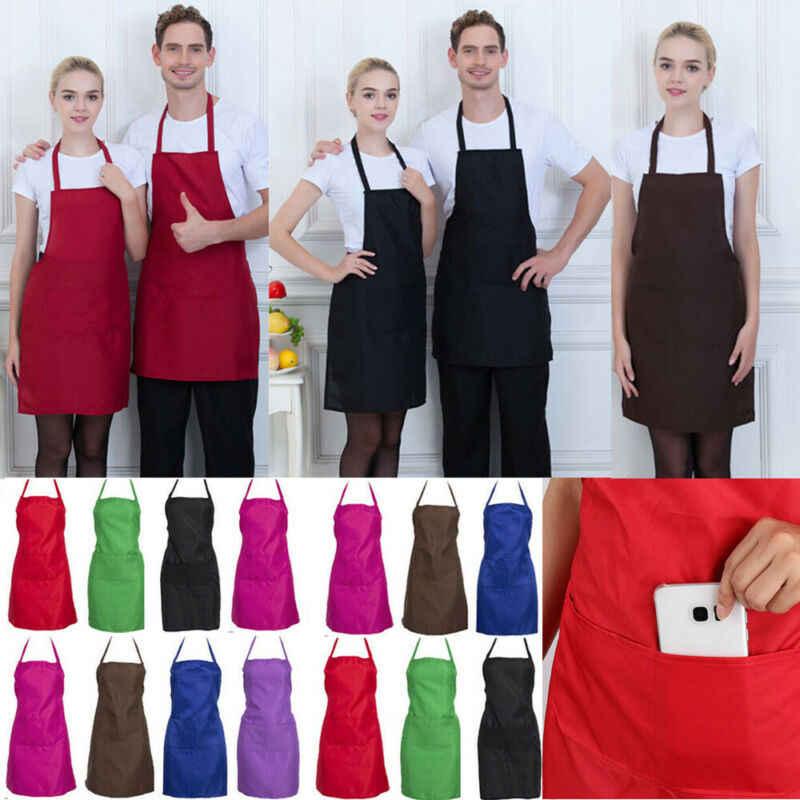 Regulowany mężczyzna kobiet szef kuchni restauracji klasyczny fartuch do gotowania fartuch sukienka z kieszeniami rzeźnik Craft pieczenie kuchnia gotowanie grill