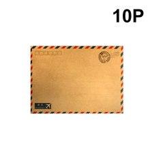 10 листов горячего кофе крафт воздушная почта конверт открытка хранилище Канцелярских Товаров Бумага